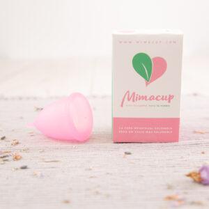 Copa mestrual de silicona Mimacup en rosa