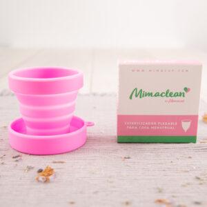 Esterilizador copa mestrual plegable de silicona Mimacup en rosa