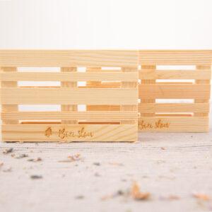Jabonera en madera de pino Bizi Slow rectangular