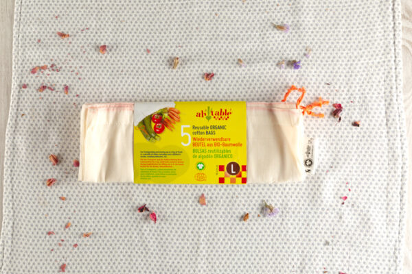 Bolsas algodon organico reutilizables