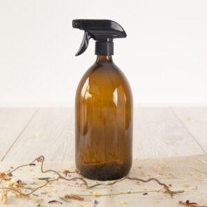 Bote vidrio pistola spray 100 ml en ambar