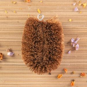 Cepillo para fregar de coco y fibra vegetal