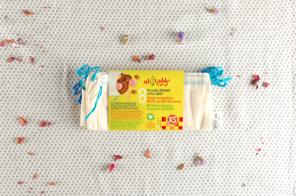 bolsas reutilizables y labales alimentacion