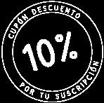 10% de descuento al suscribirte en nuestra newsletter