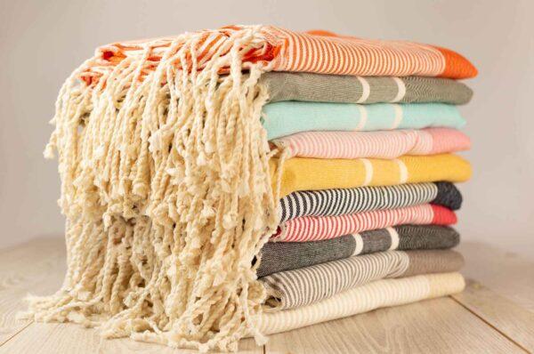 Foutas toalla artesanales de Bizi Slow en algodón