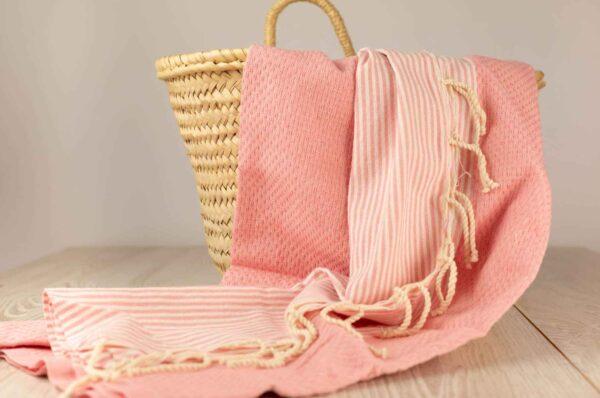 fouta toalla algodon en rosa